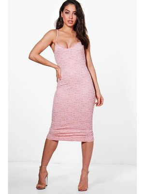 BOOHOO Jayne Lace Strappy Midi Dress