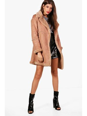 Boohoo Bonded Faux Fur Coat