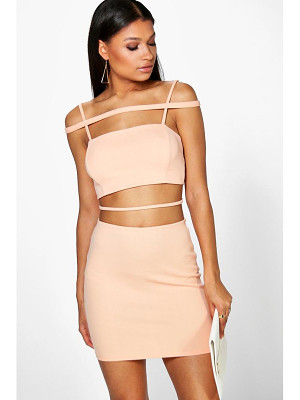 BOOHOO Jess Strappy Crop And Mini Skirt Co-Ord