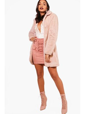 BOOHOO Jessica Boutique Faux Fur Coat