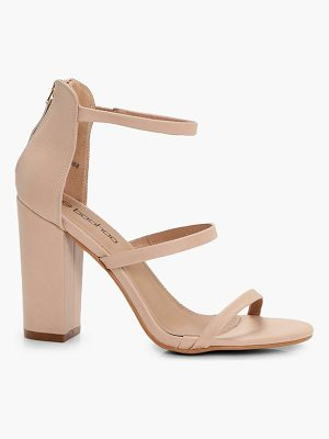 BOOHOO Jodie 3 Part Block Heels