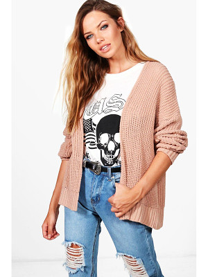 BOOHOO Julia Dropped Shoulder Cropped Oversized Cardigan