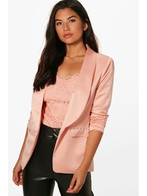 BOOHOO Kaley Pearl Button Detail Tailored Blazer