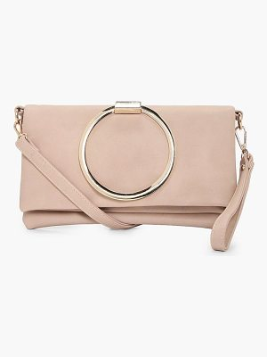 BOOHOO Karen Large Ring Cross Body Bag
