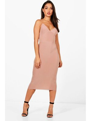 BOOHOO Karen Slinky Bodycon Midi Dress
