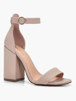 Boohoo Chunky Block Heel 2 Parts