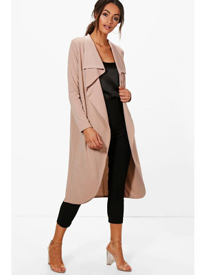 BOOHOO Kate Ponte Wrap Front Duster Jacket