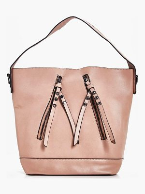 BOOHOO Kate Zip Detail Day Bag