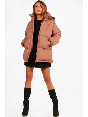 BOOHOO Katie Hooded Padded Coat