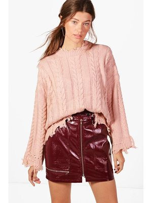 BOOHOO Kelly Oversized Cable Knit Jumper