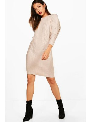 BOOHOO Kelsie Batwing Jumper Dress