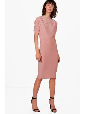 BOOHOO Kerry Slinky Midi Dress