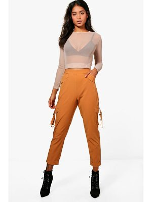 BOOHOO Kiera Pocket Side Luxe Utility Trousers