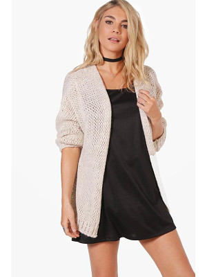 BOOHOO Lacey Chunky Knit Cardigan