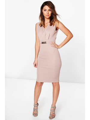 Boohoo Belted Tailored Dress