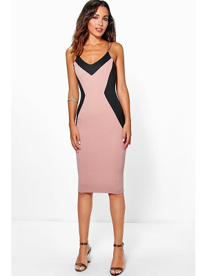 BOOHOO Laura Trim Detail Midi Dress