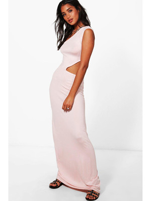 BOOHOO Lauren One Shoulder Cut Out Maxi Dress