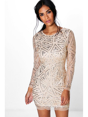Boohoo Lauren Sequin Long Sleeved Bodycon Dress