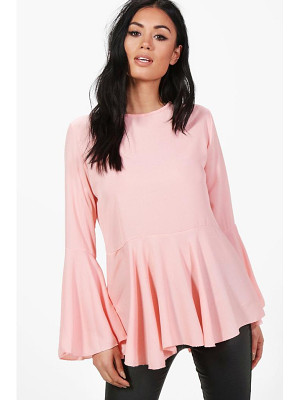 BOOHOO Lauren Wide Sleeve Blouse