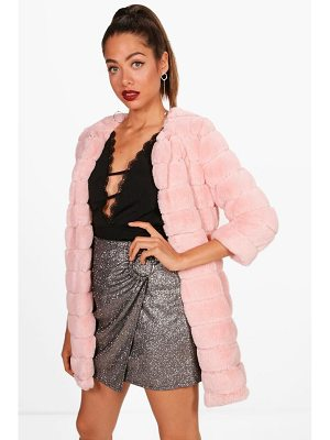 BOOHOO Layla Faux Fur Coat
