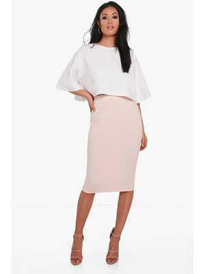 BOOHOO Lexi Boxy Crop And Midi Skirt Co-Ord
