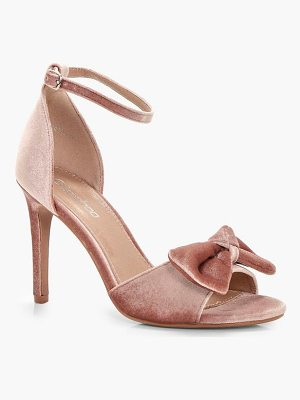 BOOHOO Libby Bow Trim 2 Part Heels