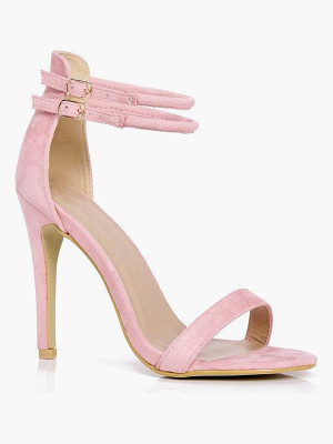BOOHOO Libby Double Ankle Band 2 Part Heels
