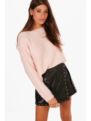 BOOHOO Lily Crop Eyelash Jumper