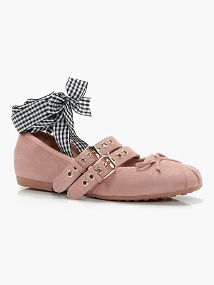 BOOHOO Lily Ribbon Lace Up Ballet