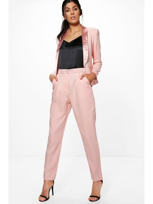 Boohoo Lily Tailored Tuxedo Waistband Trousers