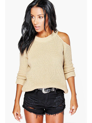 Boohoo Lois Cold Shoulder Jumper