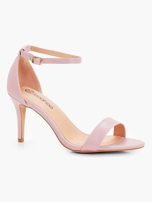 BOOHOO Lois Low Heel Two Part Sandals
