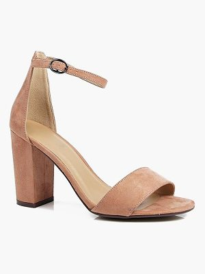 BOOHOO Lois Two Part Block Heels
