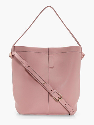 BOOHOO Lottie Structured Bucket Bag
