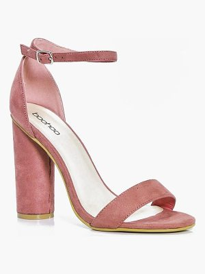 BOOHOO Louise Cylinder Block Two Part Heels