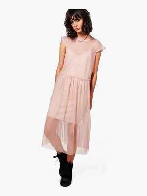 BOOHOO Lucy Dobby Mesh Dress