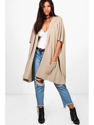BOOHOO Lucy Hooded Cape Cardigan