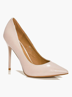 Boohoo Lucy Pointed Glitter Sole Court