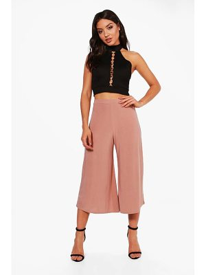 BOOHOO Lucy Soft Slinky Wide Leg Culottes