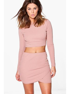 BOOHOO Lydia Bandage Crop & Mini Skirt Co-Ord Set