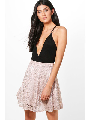 Boohoo Lydia Basic Lace Skater Mini Skirt
