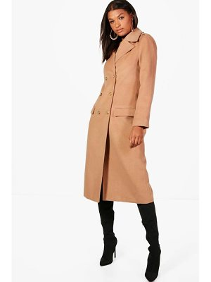 Boohoo Double Breasted Military Coat