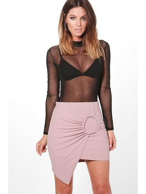 BOOHOO Maya Asymetric Large O Ring Mini Skirt