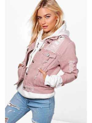 Boohoo Melanie Distressed Twill Jacket