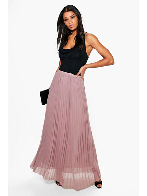 Boohoo Mia Chiffon Pleated Maxi Skirt