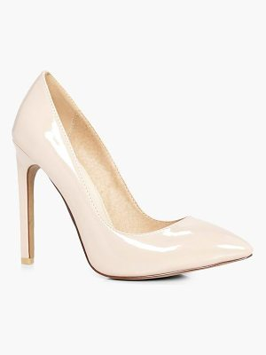 BOOHOO Millie High Heel Court Shoes Patent