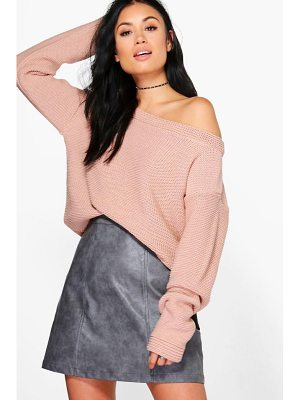 Boohoo Off The Shoulder Jumper