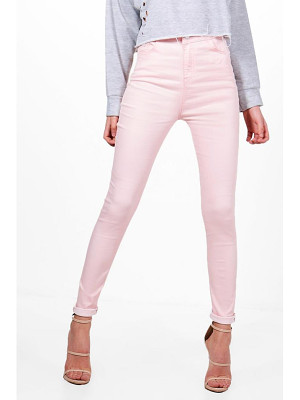 Boohoo Molly 5 Pocket Pastel Denim Skinny Jeans