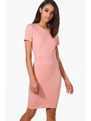 BOOHOO Molly Fitted Tailored Scuba Dress