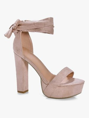 BOOHOO Nancy Two Part Platform Heels
